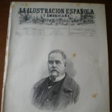 Coleccionismo de Revistas y Periódicos: ILUSTRACION ESPAÑOLA/AMERICANA (08/08/94) SAN SEBASTIAN BARCELONA ARMADA ESPAÑOLA NAUTILUS VILLAMIL . Lote 35839077