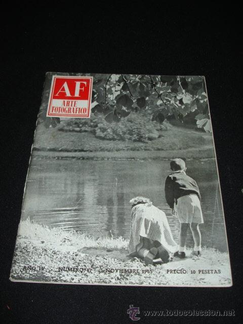 REVISTA - ARTE FOTOGRAFICO - NOVIEMBRE 1955 (Coleccionismo - Revistas y Periódicos Modernos (a partir de 1.940) - Otros)