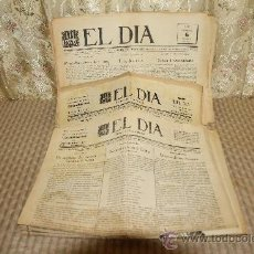 Coleccionismo de Revistas y Periódicos: 2570- EL DIA. DIARI DE TERRASSA. 28 EJEMPLARES. IMP SALVATERRA. . Lote 35894317
