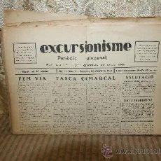 Coleccionismo de Revistas y Periódicos: 2574- EXCURSIONISME. REVISTA DE JOVENTUT. 41 EJEMPLARES. 1928/1930.. Lote 35910732