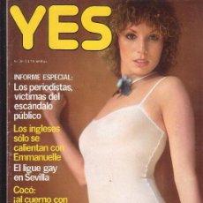 Coleccionismo de Revistas y Periódicos: YES Nº 29 AÑO 1978 - DESNUDOS : FOTOS DEL FILM - JUEGA CONMIGO HIJA MIA ( TERESA ANN SAVOY ). Lote 35911284