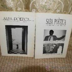 Coleccionismo de Revistas y Periódicos: 2580- SABA POETICA. REVISTA LITERARIA DE BARCELONA. 6 EJEMPLARES. 1986/1990.. Lote 35912217