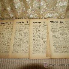 Coleccionismo de Revistas y Periódicos: 2585- CLARIS SEMANARIO DE PUBLICACION EVENTUAL. IMP. ALTES 1932. 22 EJEMPLARES. Lote 35925314