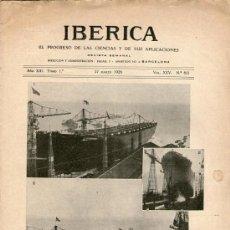 Coleccionismo de Revistas y Periódicos: REVISTA SEMANAL IBÉRICA - Nº 621 - 27 MARZO 1926. Lote 35925932