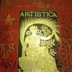 Coleccionismo de Revistas y Periódicos: LA ILUSTRACIÓN ARTÍSTICA, PERIÓDICO SEMANAL, GRABADOS, 1891, TM X, DEL Nº 471 AL 522, BARCELONA. Lote 35991903