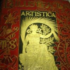 Coleccionismo de Revistas y Periódicos: LA ILUSTRACIÓN ARTÍSTICA, PERIÓDICO SEMANAL, GRABADOS, 1892, TM XI, AÑO XI, DEL Nº 523 AL 574, BCN. Lote 35991965