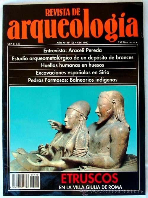 REVISTA DE ARQUEOLOGÍA Nº 108 / ABRIL 1990 - ZUGARTO EDICIONES - VER ÍNDICE (Coleccionismo - Revistas y Periódicos Modernos (a partir de 1.940) - Otros)