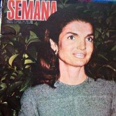 Coleccionismo de Revistas y Periódicos: REVISTA SEMANA / JACQUELINE KENNEDY, MISS EUROPA Y MISS ESPAÑA, GRACE KELLY, SALVATORE ADAMO. Lote 36076735