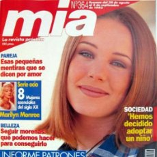 Coleccionismo de Revistas y Periódicos: REVISTA MIA N 364 CON ESPECIAL DE MARILYN MONROE. Lote 36318453