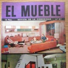Coleccionismo de Revistas y Periódicos: REVISTA DECORACION EL MUEBLE Nº 27 MARZO 1964. Lote 36100743