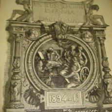 Coleccionismo de Revistas y Periódicos: REVISTA ILUSTRACION ESPAÑOLA Y AMERICANA,GRABADOS Y PUBLICIDAD DE ÉPOCA 1894,AÑO XXXVIII Nº 1 AL 24. Lote 36102465