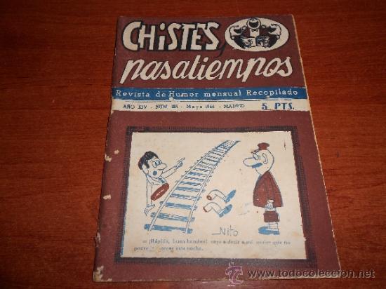 CHISTES Y PASATIEMPOS, REVISTA DE HUMOR MENSUAL RECOPILADO, MAYO 1966 (Coleccionismo - Revistas y Periódicos Modernos (a partir de 1.940) - Otros)