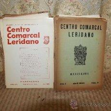 Coleccionismo de Revistas y Periódicos: 2767- CENTRO COMARCALLERIDANO BOLETIN INTERIOR INFORMATIVO LOTE DE 61 EJEMPLARES. VER DESCRIPCION. Lote 36331662