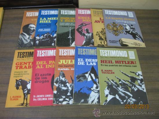 REVISTA DE HISTORIA.TESTIMONIO. 1 AL 11. BRUGUERA 1975. (Coleccionismo - Revistas y Periódicos Modernos (a partir de 1.940) - Otros)