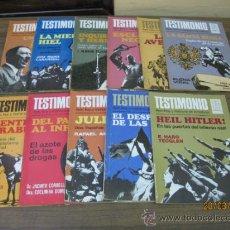 Coleccionismo de Revistas y Periódicos: REVISTA DE HISTORIA.TESTIMONIO. 1 AL 11. BRUGUERA 1975.. Lote 36369534