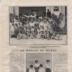 Coleccionismo de Revistas y Periódicos: LA HUELGA DE MINEROS EN BILBAO - 1910. Lote 36423939
