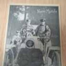 Coleccionismo de Revistas y Periódicos: EL REY ALFONSO XIII EN AUTOMÓVIL EN 3 PÁGINAS (R222), UNA DOBLE, ORIGINALES REVISTA NUEVO MUNDO 1904. Lote 36442294