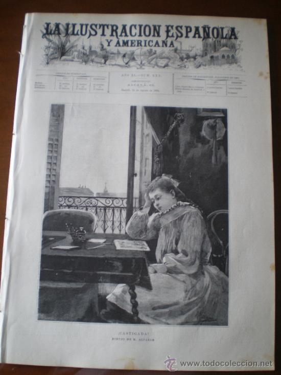 ILUSTRACION ESPAÑOLA/AMERICANA (15/08/96) CORDOBA GUIPUZOA PASAJES MARQUES DE PINAR DEL RIO CUBA (Coleccionismo - Revistas y Periódicos Antiguos (hasta 1.939))