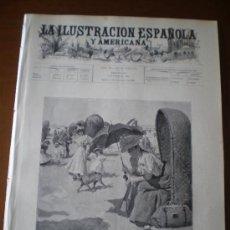 Coleccionismo de Revistas y Periódicos: ILUSTRACION ESPAÑOLA/AMERICANA (08/09/96) MARQUES DE GELIDA MADRID ERNEST BAZIN ASTURIAS MAYET. Lote 36557327