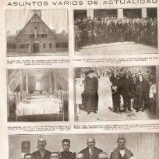 Coleccionismo de Revistas y Periódicos: RECORTE PRENSA AÑOS 20.SAN SEBASTIAN PABELLON DE CABALLERIZAS PALACIO DE MIRAMAR. Lote 36559225