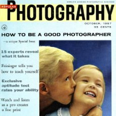 Coleccionismo de Revistas y Periódicos: REVISTA POPULAR PHOTOGRAPHY - OCTUBRE 1957. Lote 36577710