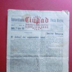 Coleccionismo de Revistas y Periódicos: CIUDAD SEMANARIO INFORMATIVO MANRESA 29/09/1940 Nº EXTRAORDINARIO FIESTA MAYOR. Lote 36598397