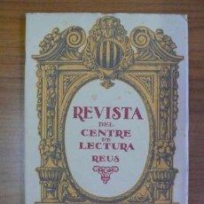 Coleccionismo de Revistas y Periódicos: REVISTA DEL CENTRE DE LECTURA. REUS. ANY I, NÚM. 2. 15 FEBRER 1920.. Lote 36604622