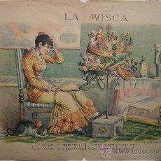 Coleccionismo de Revistas y Periódicos: LA MOSCA ROJA, PERIÓDICO POLÍTICO JOCO-SERIO 1881. Lote 36619637