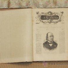 Coleccionismo de Revistas y Periódicos: 2921- LA ACADEMIA. SEMANARIO ILUSTRADO UNIVERSAL.1878. TOMO IV NUMEROS DEL 1 AL 23.. Lote 36653442