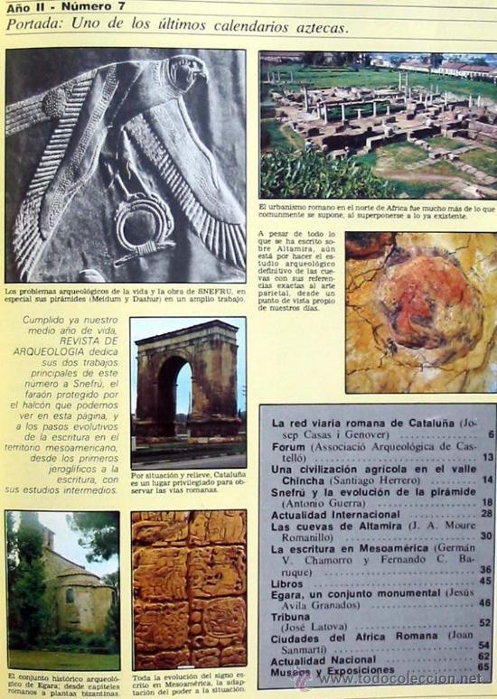 Coleccionismo de Revistas y Periódicos: REVISTA DE ARQUEOLOGÍA Nº 7 / NOVIEMBRE 1981 - ZUGARTO EDICIONES - VER ÍNDICE - Foto 2 - 36656070