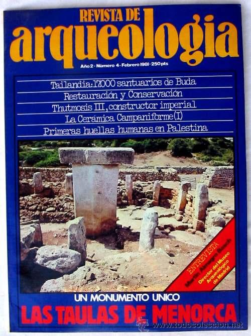 REVISTA DE ARQUEOLOGÍA Nº 4 / AGOSTO 1981 - ZUGARTO EDICIONES - VER ÍNDICE (Coleccionismo - Revistas y Periódicos Modernos (a partir de 1.940) - Otros)