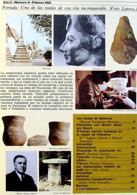 Coleccionismo de Revistas y Periódicos: REVISTA DE ARQUEOLOGÍA Nº 4 / AGOSTO 1981 - ZUGARTO EDICIONES - VER ÍNDICE - Foto 2 - 36656123