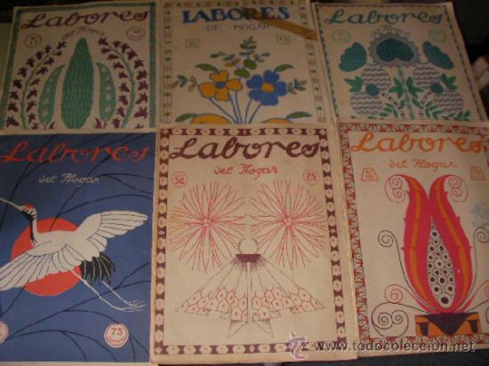 GRAN LOTE DE ANTIGUAS REVISTAS LABORES DEL HOGAR AÑOS 20-30 CON PATRONES Y SUPLEMENTOS (Coleccionismo - Revistas y Periódicos Antiguos (hasta 1.939))