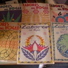 Coleccionismo de Revistas y Periódicos: GRAN LOTE DE ANTIGUAS REVISTAS LABORES DEL HOGAR AÑOS 20-30 CON PATRONES Y SUPLEMENTOS. Lote 36736129