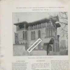 Coleccionismo de Revistas y Periódicos: REVISTA ANY 1905 ELISEU MEIFREN ROIG PINTUR IMPRESSIONISTA CATALANA JOAN RUBIO BELLVER ARENYS DE MAR. Lote 36706089