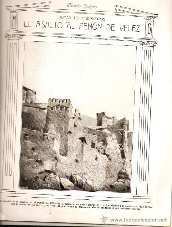 AÑO 1923.ASALTO PEÑON VELEZ LA GOMERA.MUERTE JOAQUIN SOROLLA CERCEDILLA FONDA DEL FERROCARRIL ATRACO (Coleccionismo - Revistas y Periódicos Antiguos (hasta 1.939))