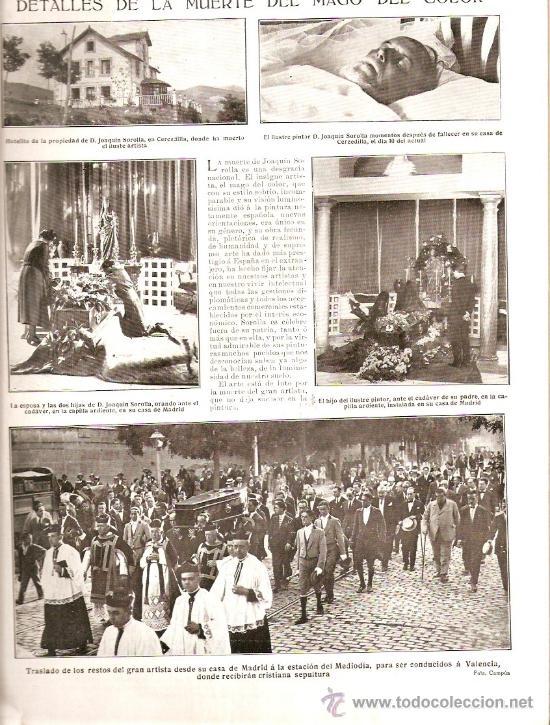 Coleccionismo de Revistas y Periódicos: AÑO 1923.ASALTO PEÑON VELEZ LA GOMERA.MUERTE JOAQUIN SOROLLA CERCEDILLA FONDA DEL FERROCARRIL ATRACO - Foto 2 - 36733533