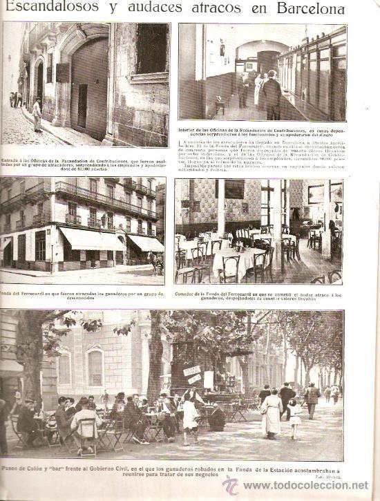 Coleccionismo de Revistas y Periódicos: AÑO 1923.ASALTO PEÑON VELEZ LA GOMERA.MUERTE JOAQUIN SOROLLA CERCEDILLA FONDA DEL FERROCARRIL ATRACO - Foto 3 - 36733533