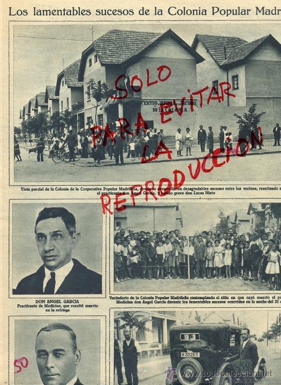 COLONIA POPULAR MADRILEÑA 1932 SUCESOS HOJA REVISTA (Coleccionismo - Revistas y Periódicos Modernos (a partir de 1.940) - Otros)