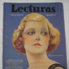Coleccionismo de Revistas y Periódicos: REVISTA LECTURAS. AGOSTO 1935.. Lote 36781413
