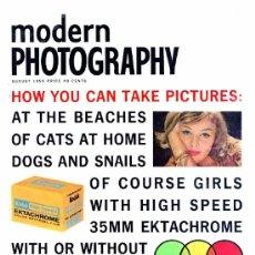 Coleccionismo de Revistas y Periódicos: REVISTA MODERN PHOTOGRAPHY - AGOSTO 1959. Lote 36781695