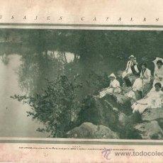 Coleccionismo de Revistas y Periódicos: RECORTE PRENSA AÑO 1928 OLOT RIBERAS RIO FLUVIA GARROTXA PAISAJES CATALANES LUGARES CON ENCANTO. Lote 36840251