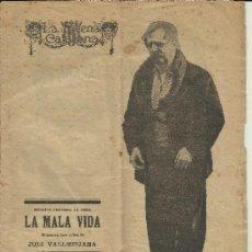 Coleccionismo de Revistas y Periódicos: LA ESCENA CATALANA NUM 7 LA MALA VIDA JULI VALLMITJANA ENRIC BORRAS ABRIL 1918. Lote 36866567