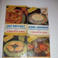 Coleccionismo de Revistas y Periódicos: LOTE REVISTAS DE COCINA ANTIGUAS. Lote 36883538