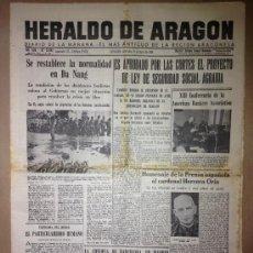 Coleccionismo de Revistas y Periódicos: HERALDO DE ARAGON DEL 25 DE MAYO DE 1966. Lote 36964666