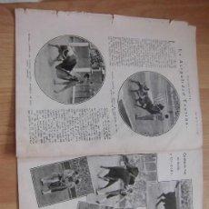 Coleccionismo de Revistas y Periódicos: LA ACTUALIDAD TAURINA 2 HOJAS DE REVISTA BLANCO Y NEGRO 1930. Lote 36994301