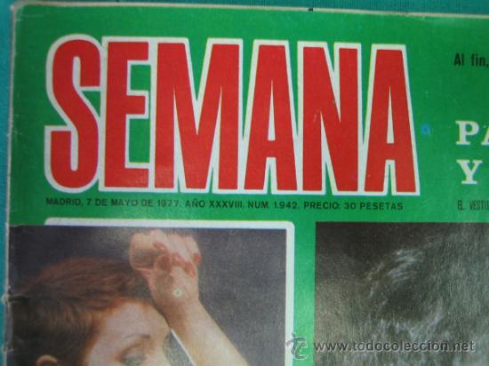Coleccionismo de Revistas y Periódicos: Revista de actualidad semana. Boda de Palomo Linares - Foto 2 - 51541417