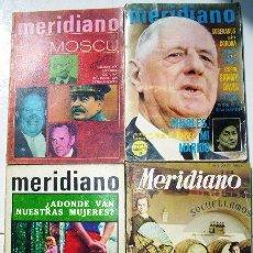 Coleccionismo de Revistas y Periódicos: LOTE DE 4 REVISTAS MERIDIANO 4T SÍNTESIS DE LA PRENSA MUNDIAL EN MADRID 1954-1967. Lote 27113032