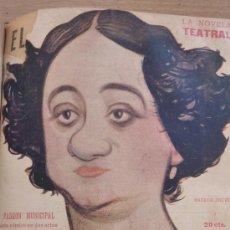 Coleccionismo de Revistas y Periódicos: LA NOVELA TEATRAL . BENITO PÉREZ GALDOS . RAMOS CARRION . 12 NOVELAS ENCUADERNADAS . AÑOS 1917. Lote 37041140