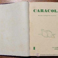 Coleccionismo de Revistas y Periódicos: TOMO ENCUADERNADO DE LA REVISTA MALAGUEÑA DE POESIA CARACOLA – DEL Nº 1 NOV 1952 AL Nº 12 OCT 1953. Lote 37073384